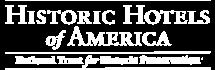 Historic Hotels of America logo.